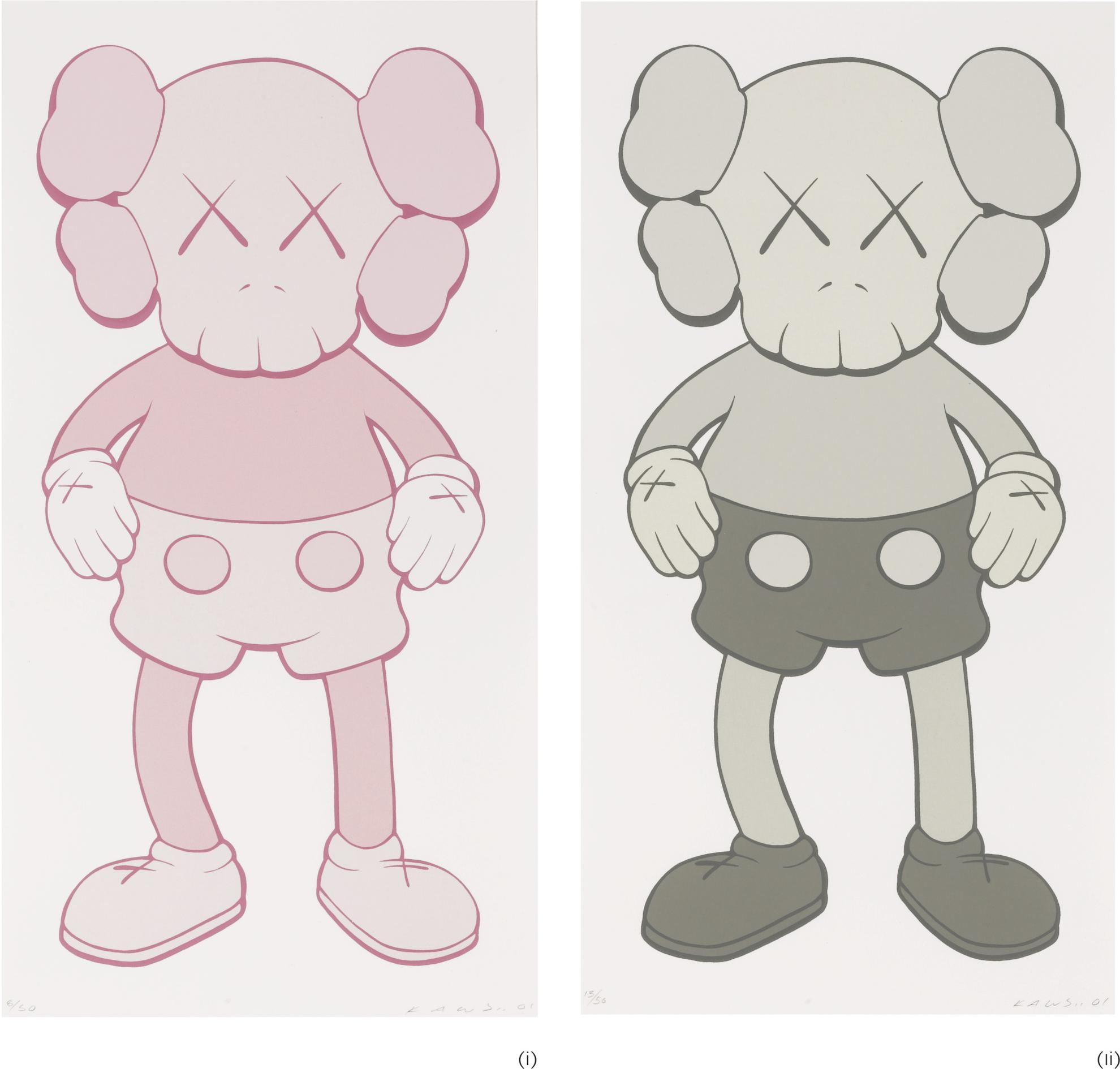 KAWS-Companion: I. Pink/ II. Grey (Two Works)-