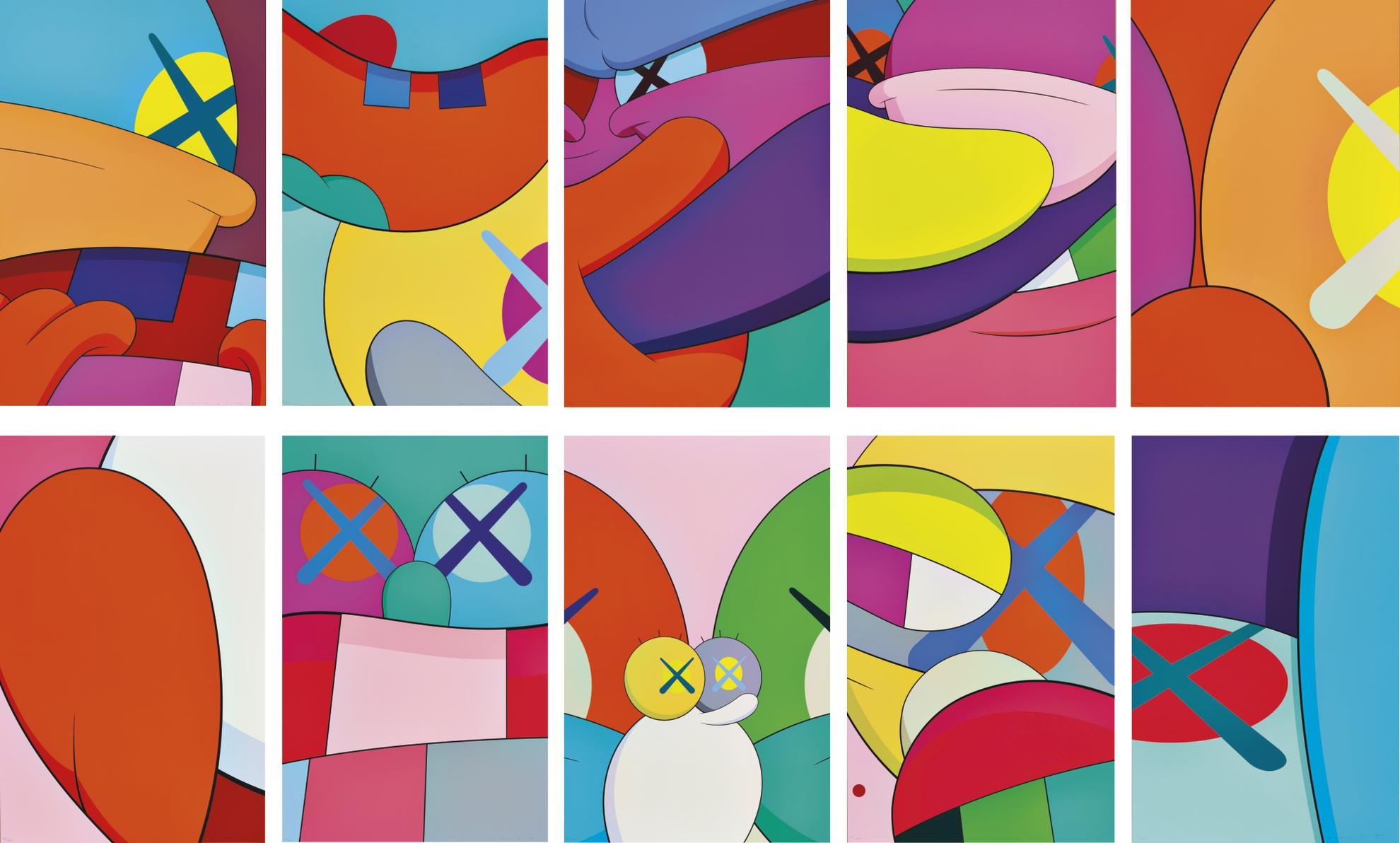 KAWS-No Reply (A Complete Set Of Ten Prints)-
