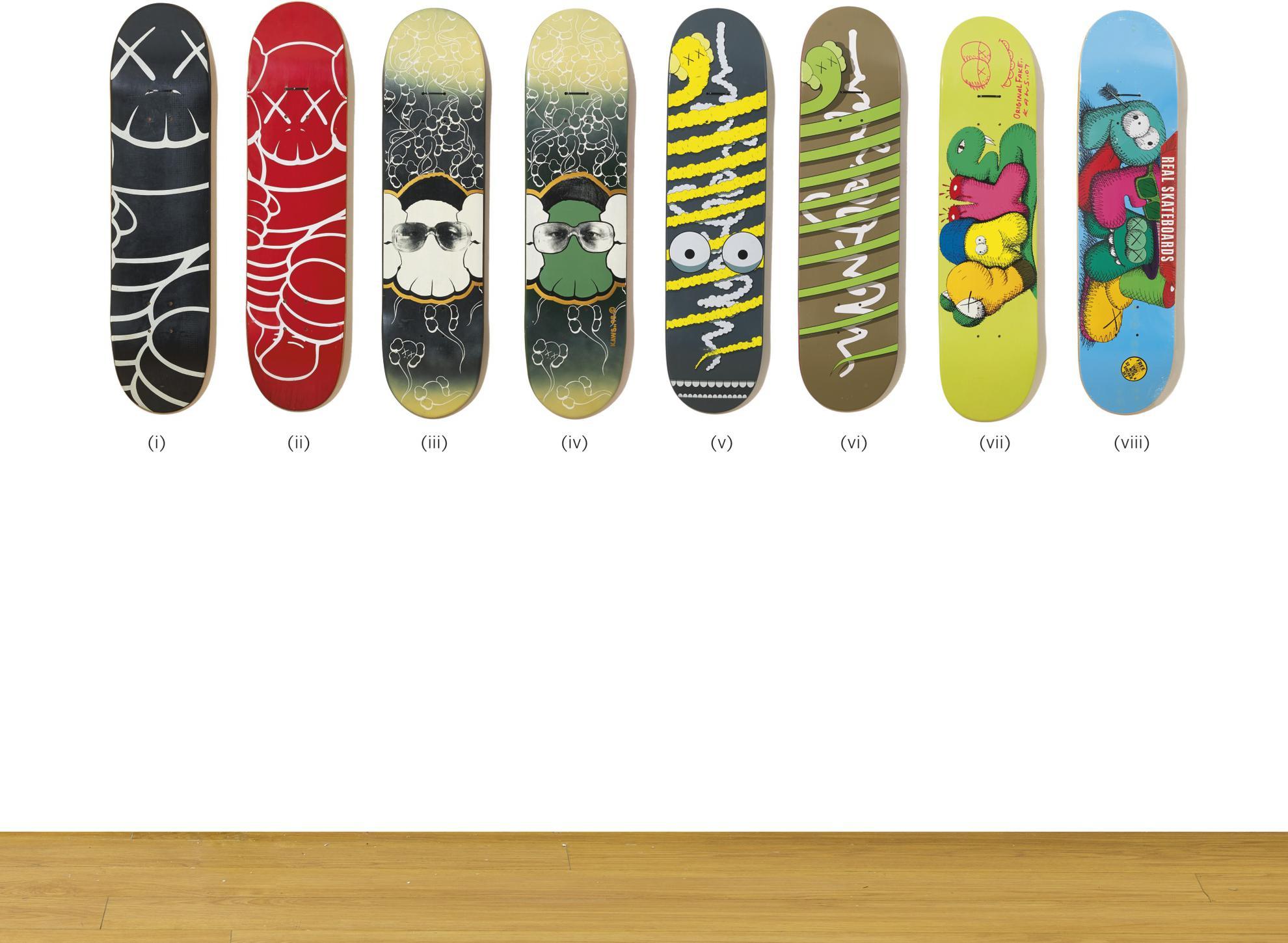 KAWS-Skateboard Decks (Eight Works)-2007