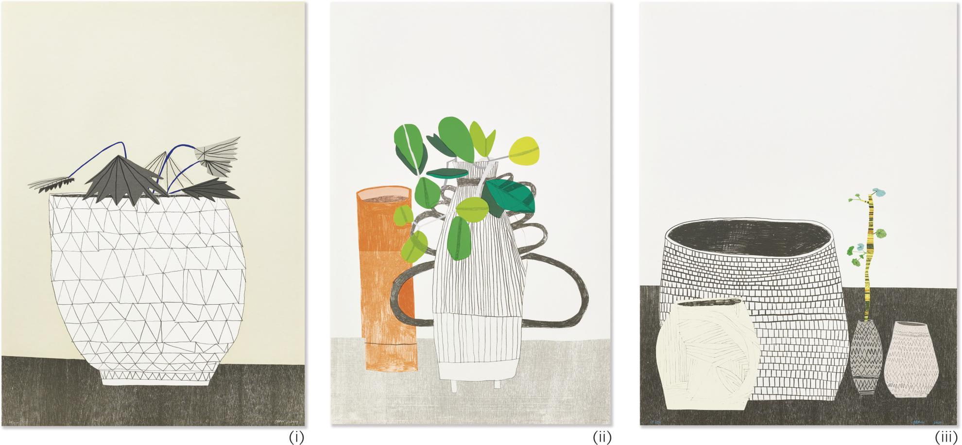Jonas Wood-Untitled (Three Works)-2009
