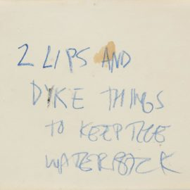 Jean-Michel Basquiat-Untitled (2 Lips And Dyke Things)-1981