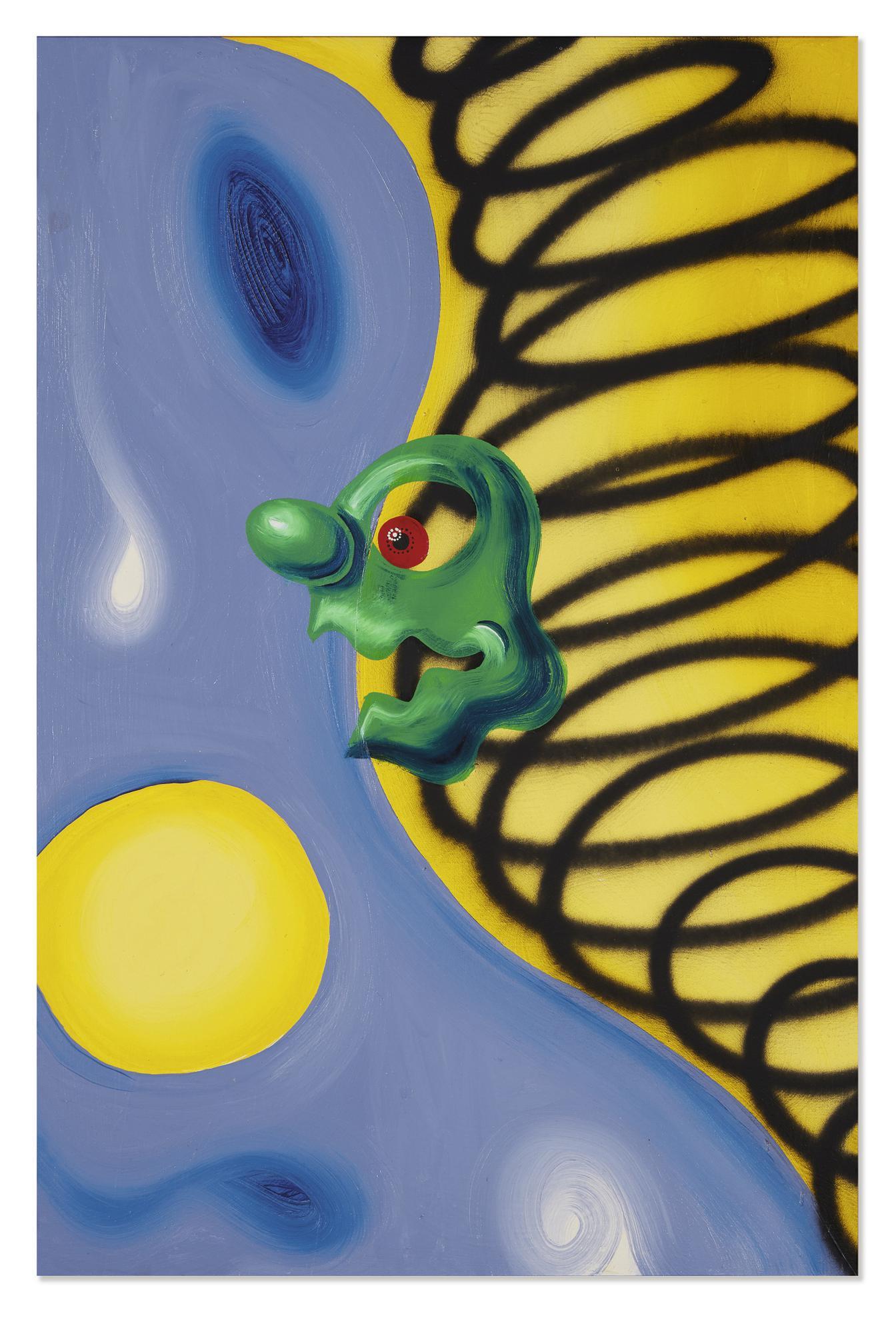 Kenny Scharf-Swishblip-1985
