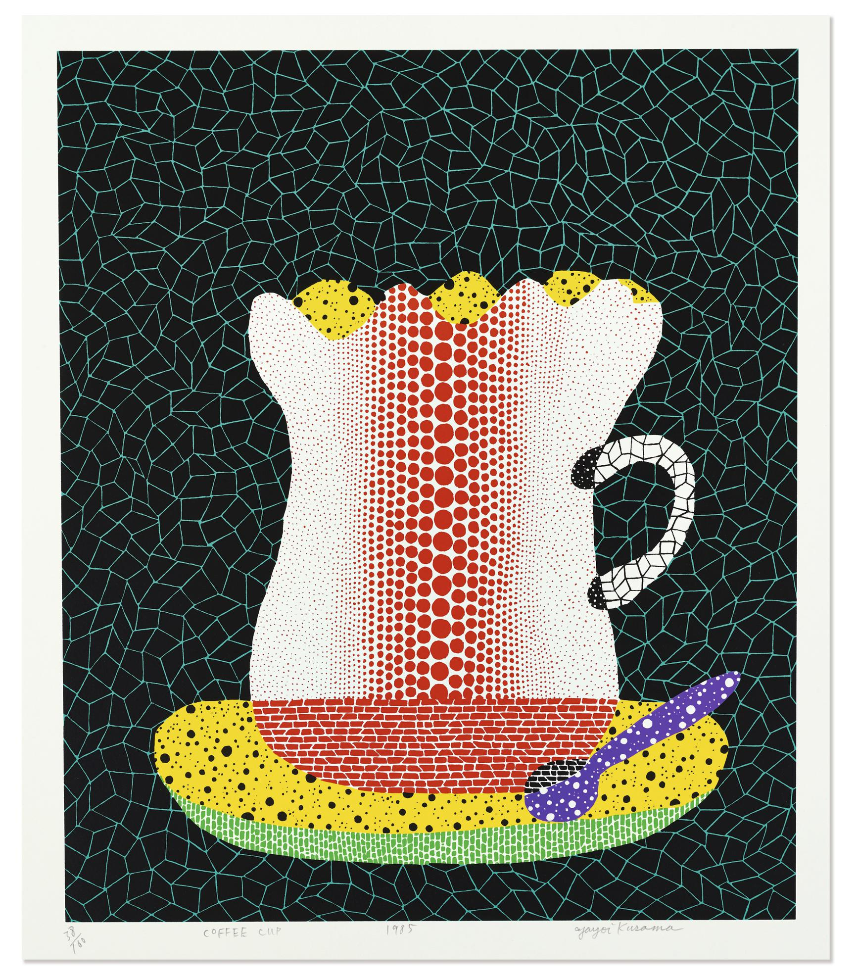 Yayoi Kusama-Coffee Cup-1985
