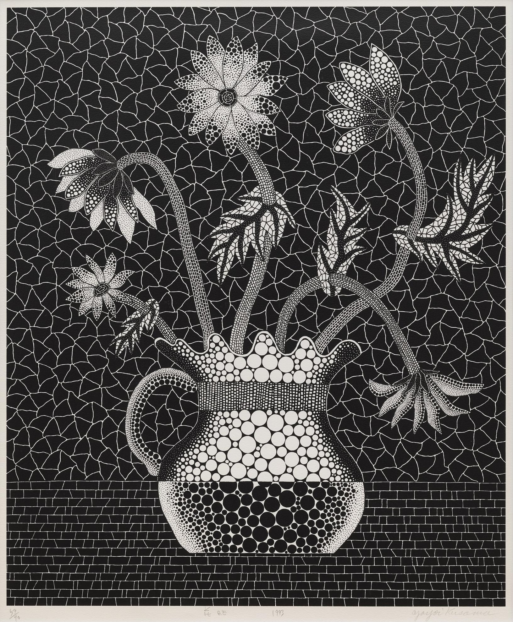 Yayoi Kusama-Flower Qe-1993