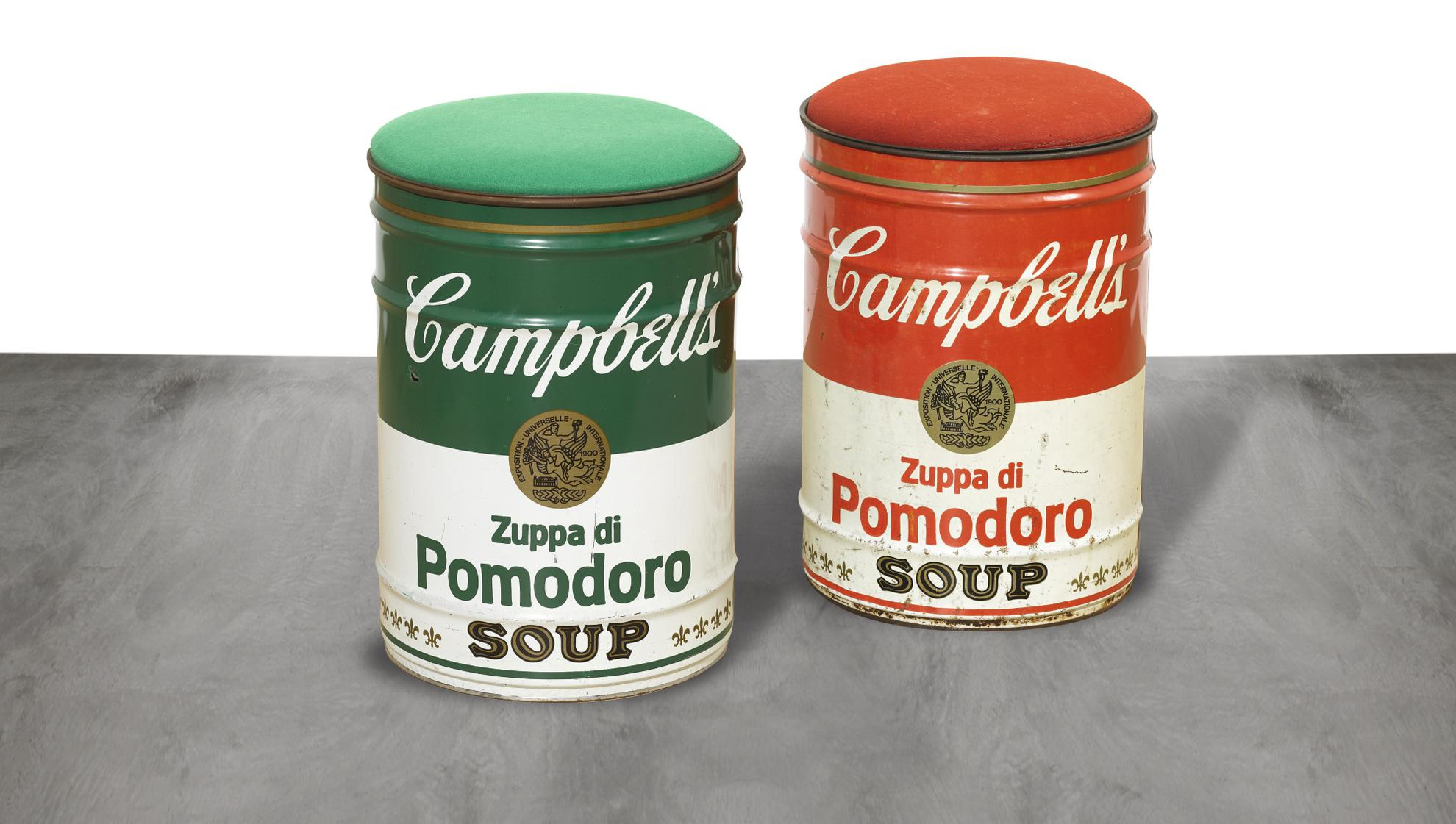 Dino Gavina - Campbells Stool (Two Works)-1973