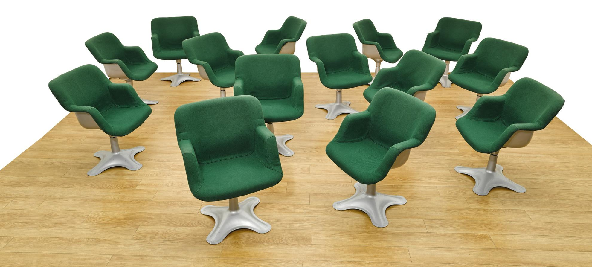 Yrjo Kukkapuro - Fourteen Chairs, Model No. 417-1960