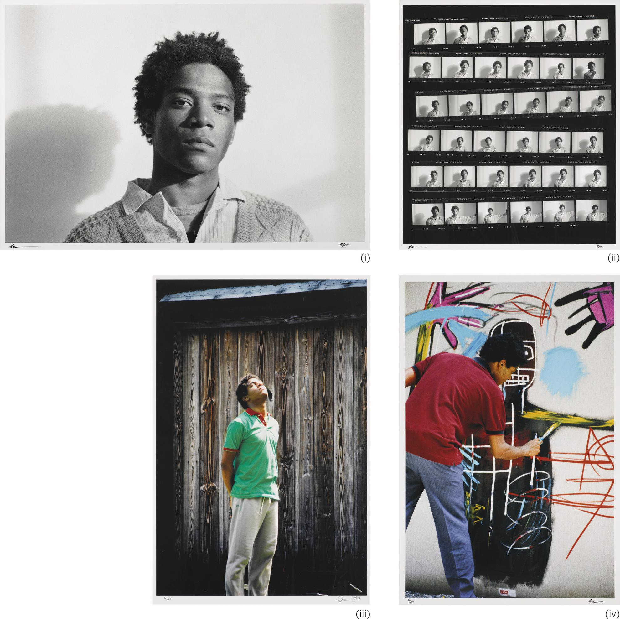 Lee Jaffe & Jean-Michel Basquiat - Untitled (Four Works)-