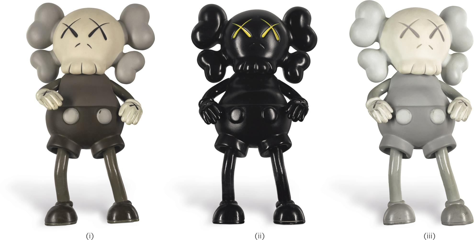 KAWS-Companion: I. Brown Colourway/ II. Black Colourway/ III. Grey Colourway (Set Of Three)-1999