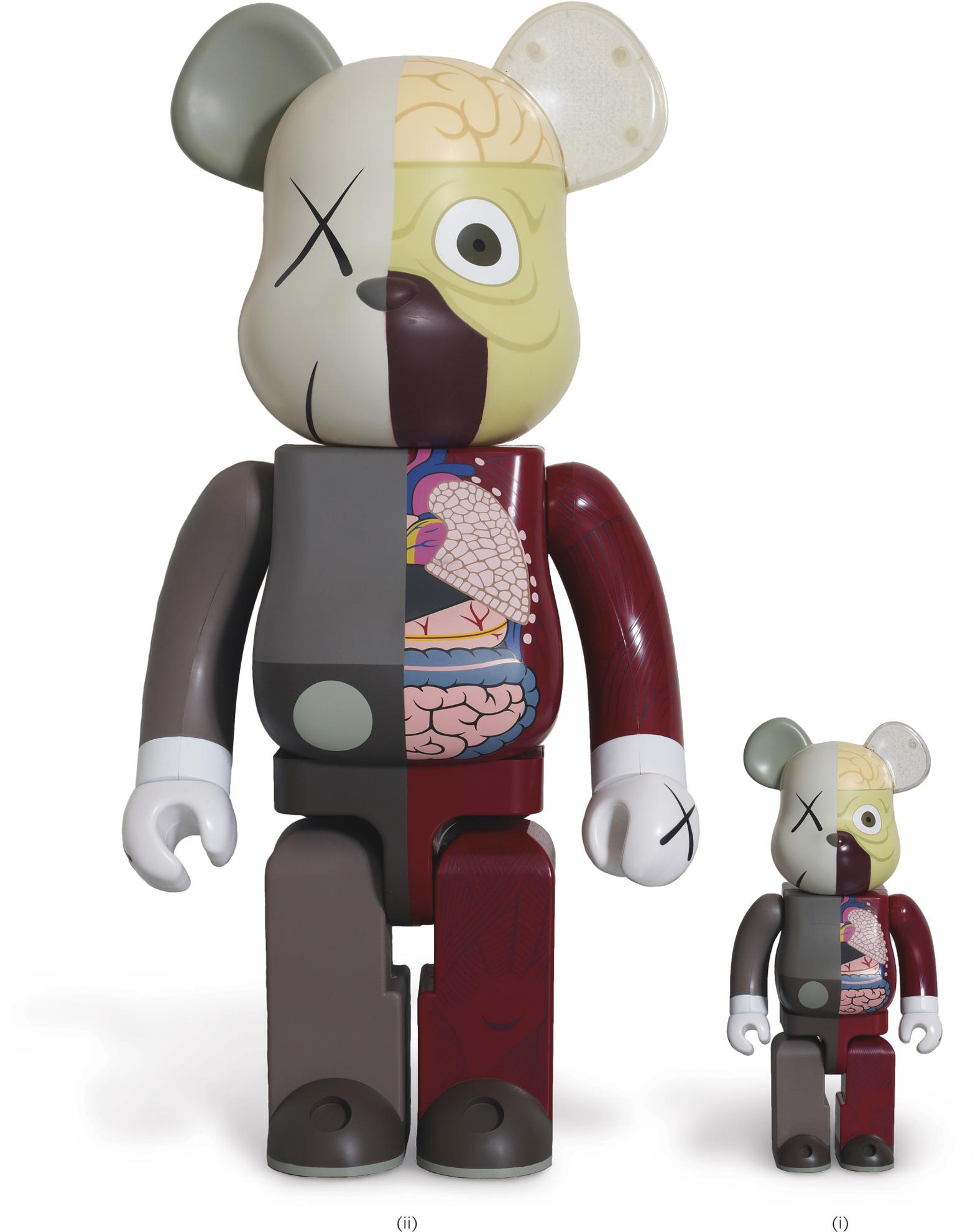 KAWS-(i) 400% Bearbrick Companion/ (ii) 1000% Bearbrick Companion (Two Works)-2009