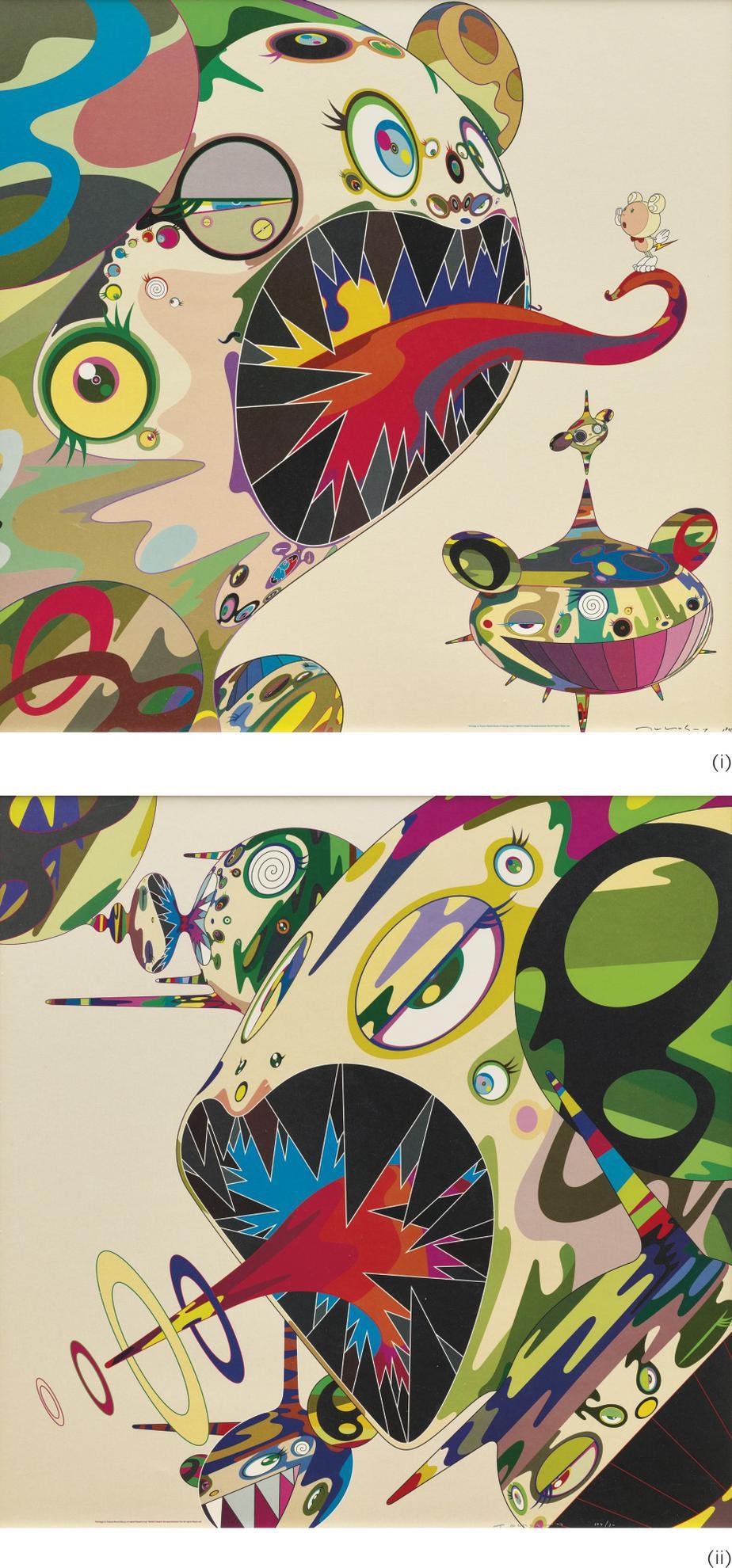 Takashi Murakami-Homage To Francis Bacon: (i) Study Of George Dyer/ (ii) Study Of Isabel Rawsthorne) (Two Works)-2003