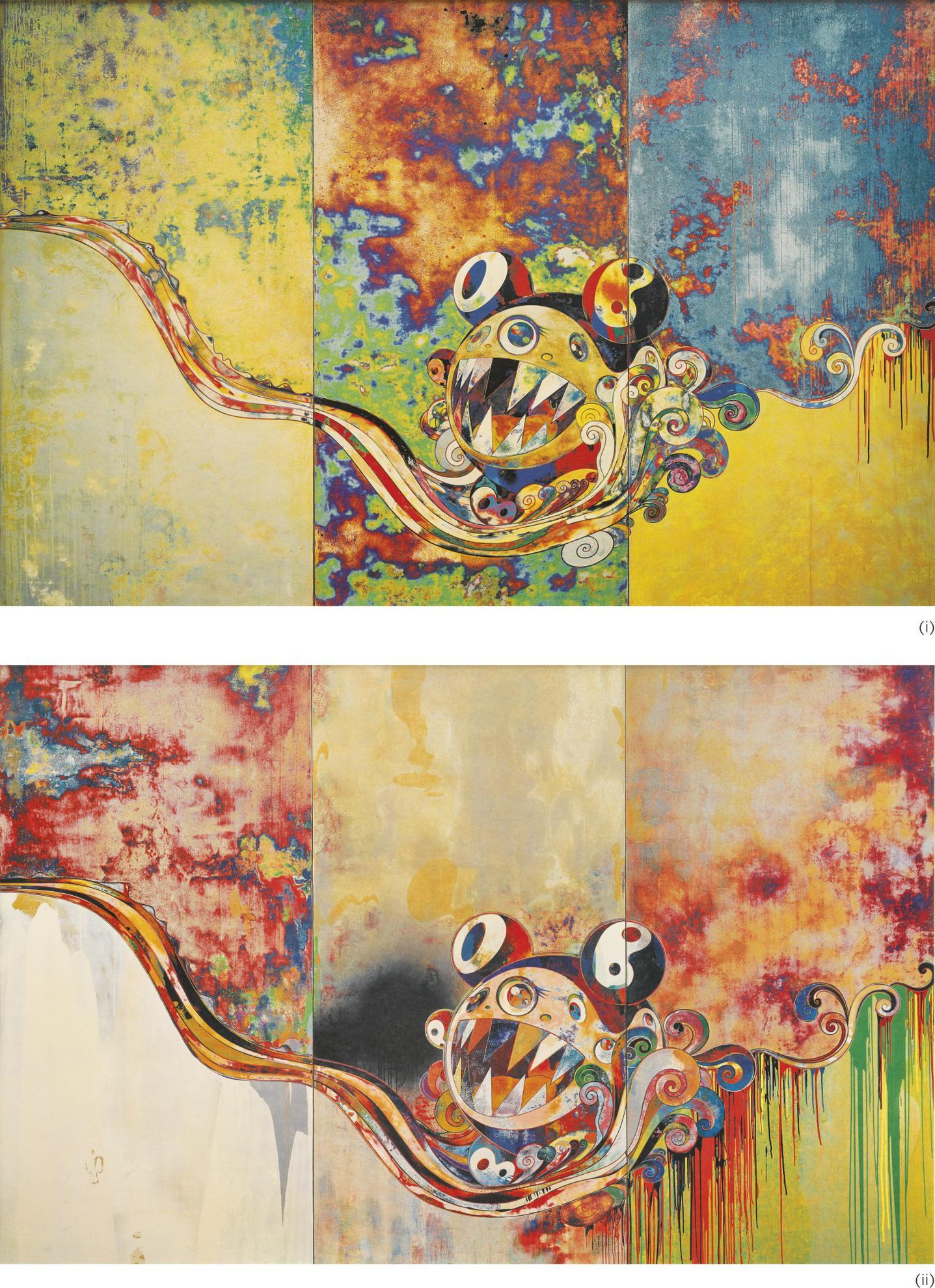 Takashi Murakami-(i) 727-727/; (ii) 727-272 (Two Works)-2006