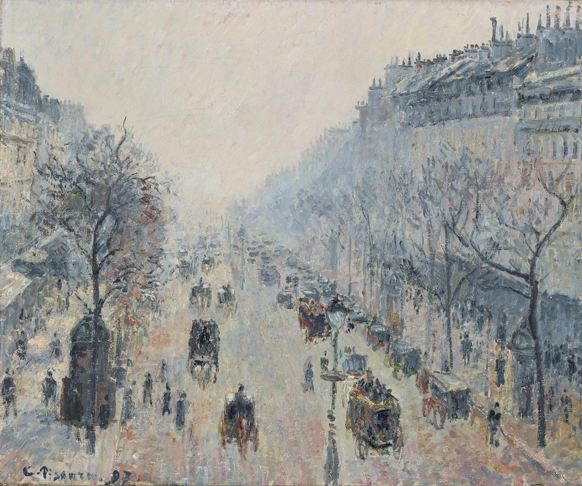 Camille Pissarro-Le Boulevard Montmartre, Brume Du Matin-1897