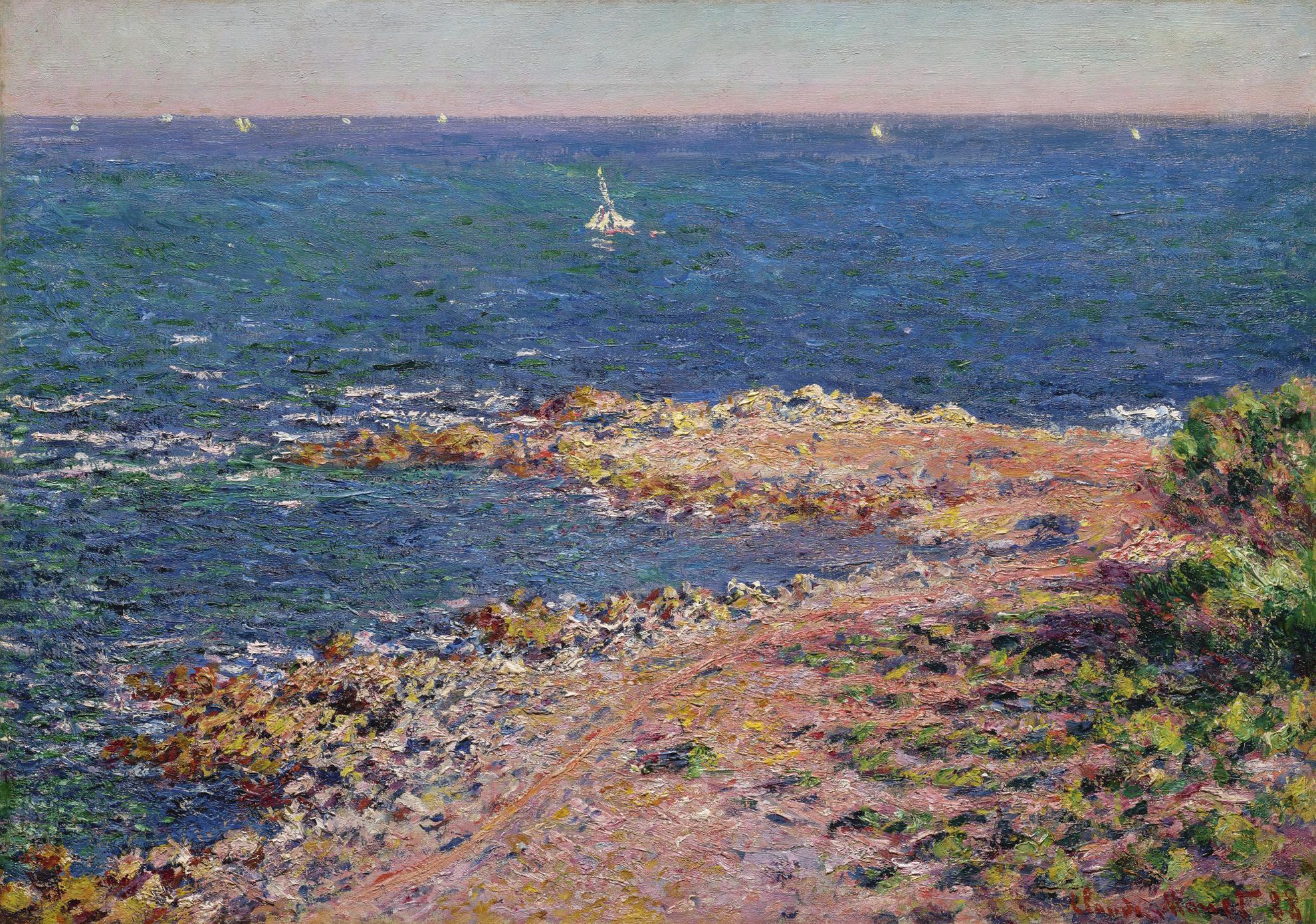 Claude Monet-La Mediterranee Par Vent De Mistral-1888