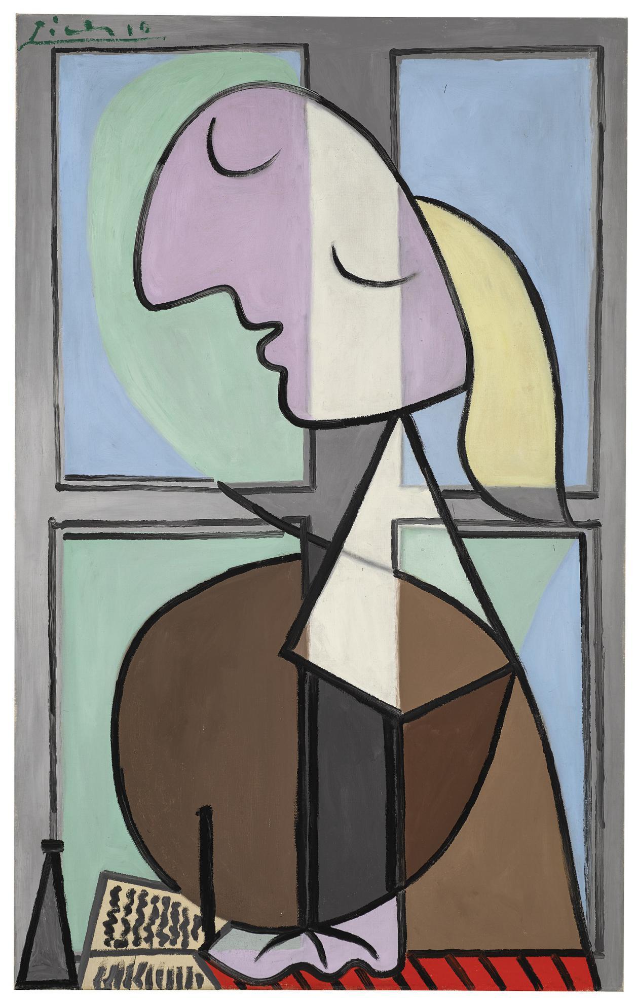 Pablo Picasso-Buste De Femme De Profil (Femme Ecrivant)-1932