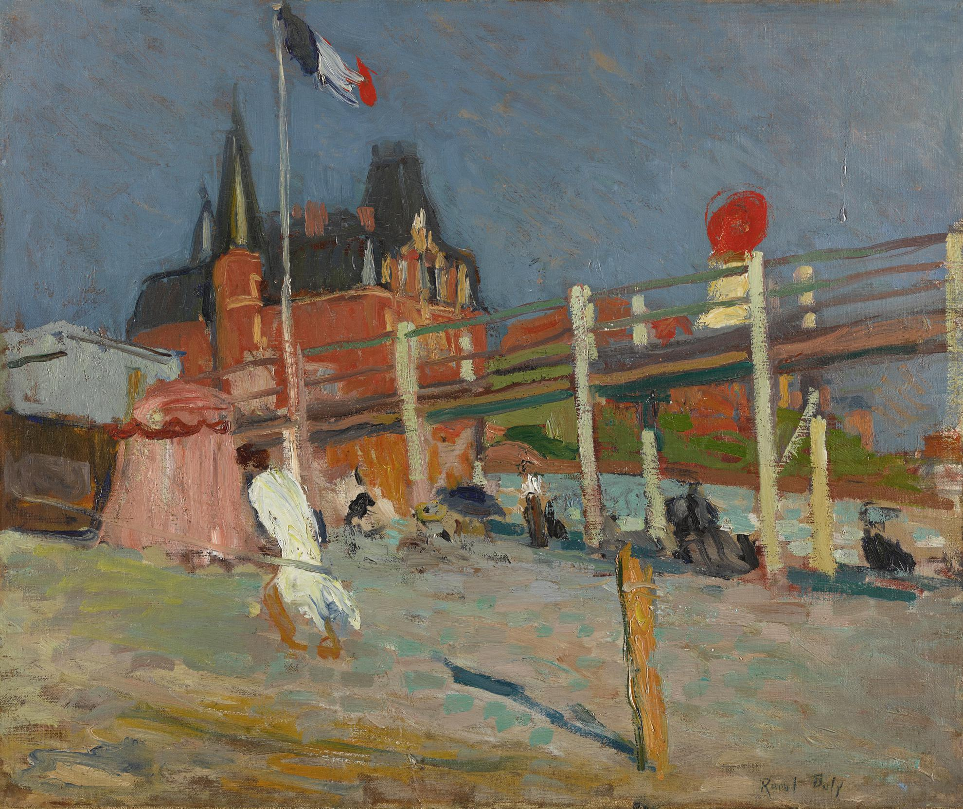 Raoul Dufy-La Plage De Sainte-Adresse-1906