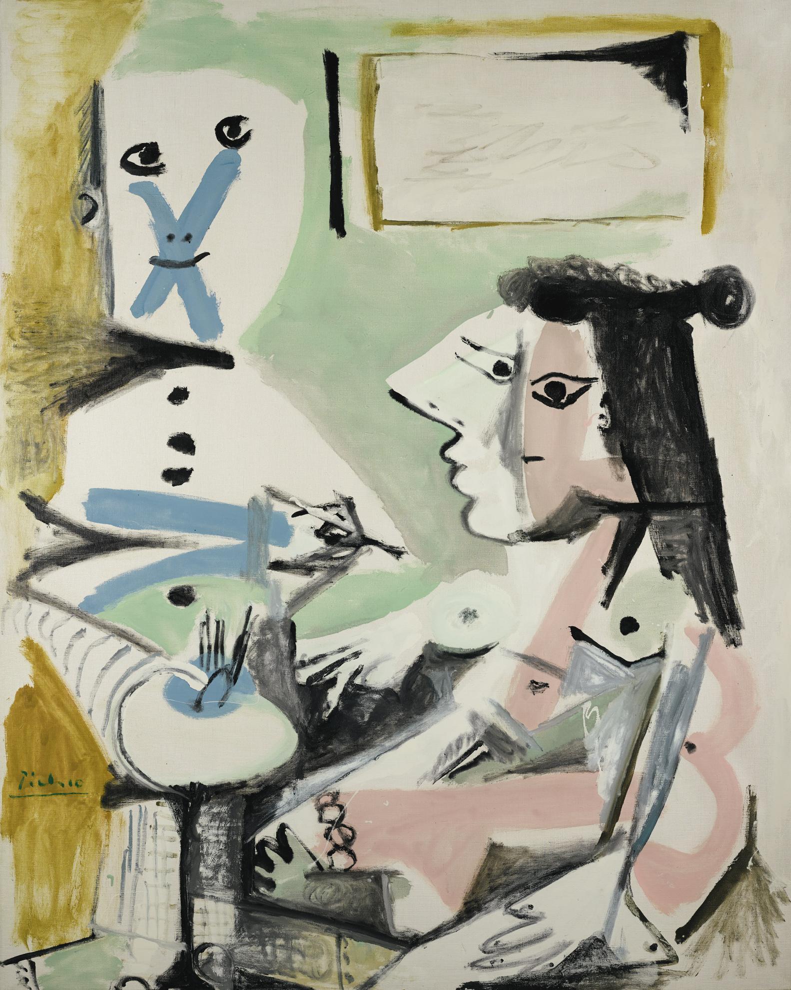 Pablo Picasso-Le Peintre Et Son Modele-1964