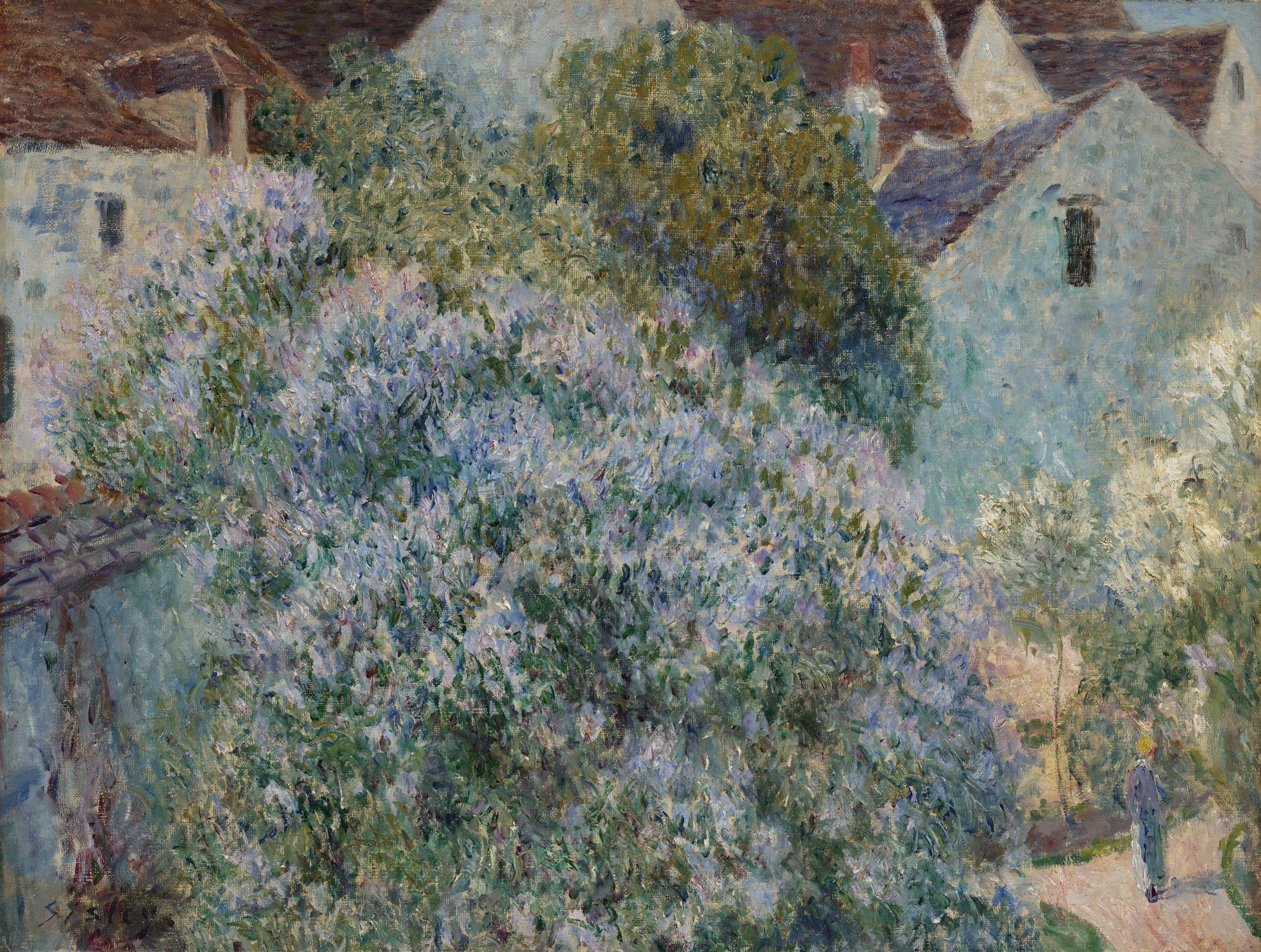Alfred Sisley-Les Lilas Dans Mon Jardin-1892