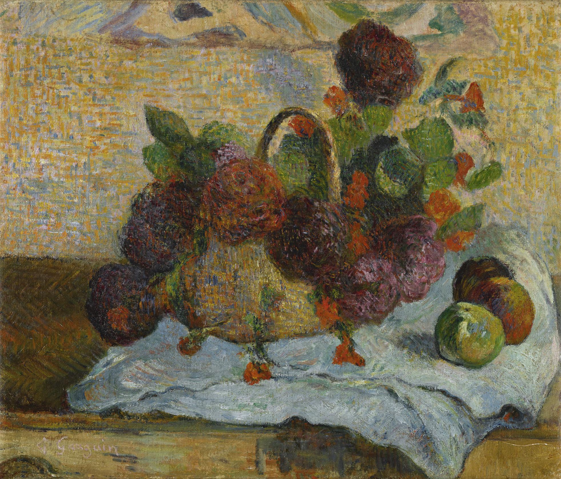 Paul Gauguin-Fleurs Dans Un Panier-1885