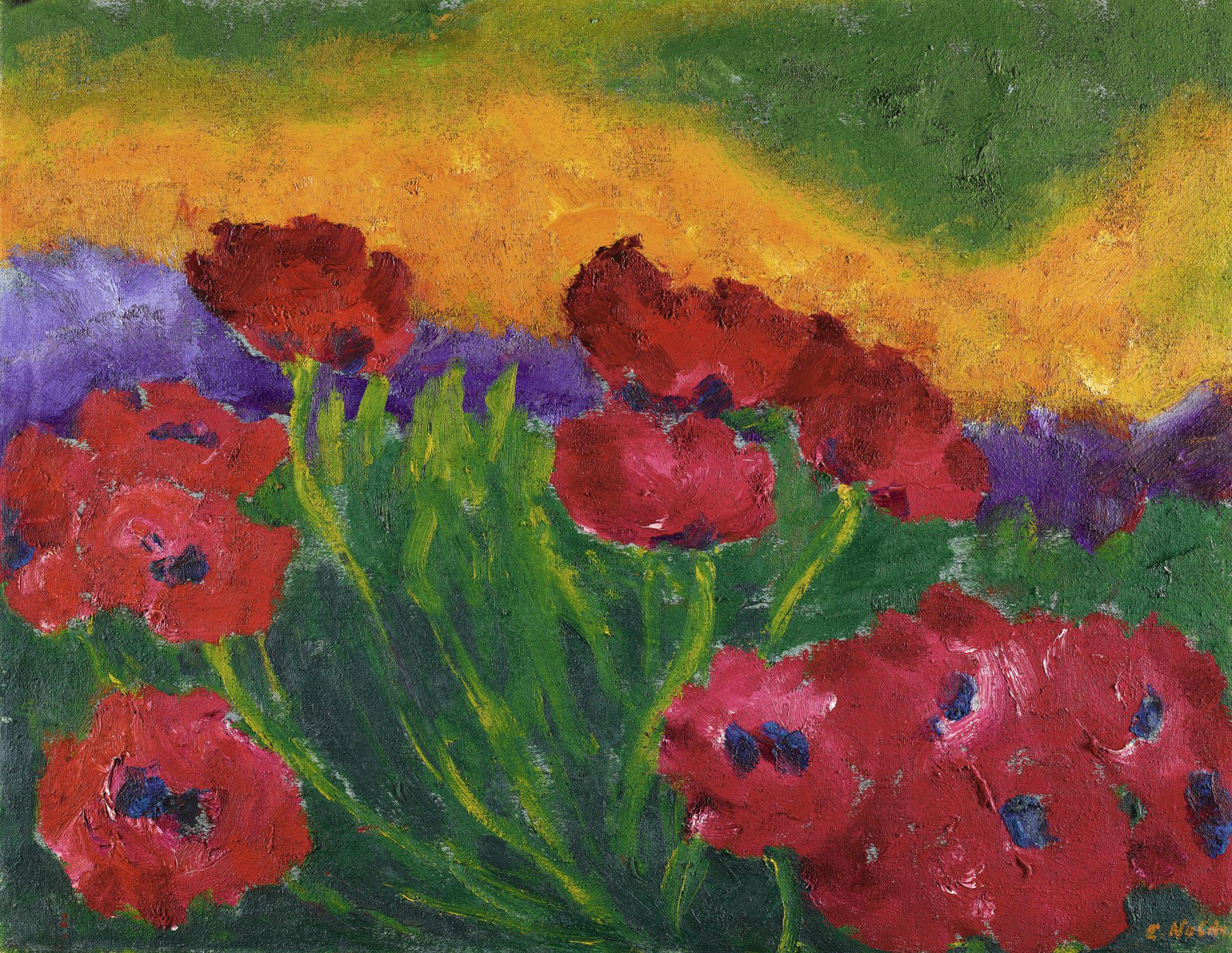 Emil Nolde-Mohn (Poppies)-1950