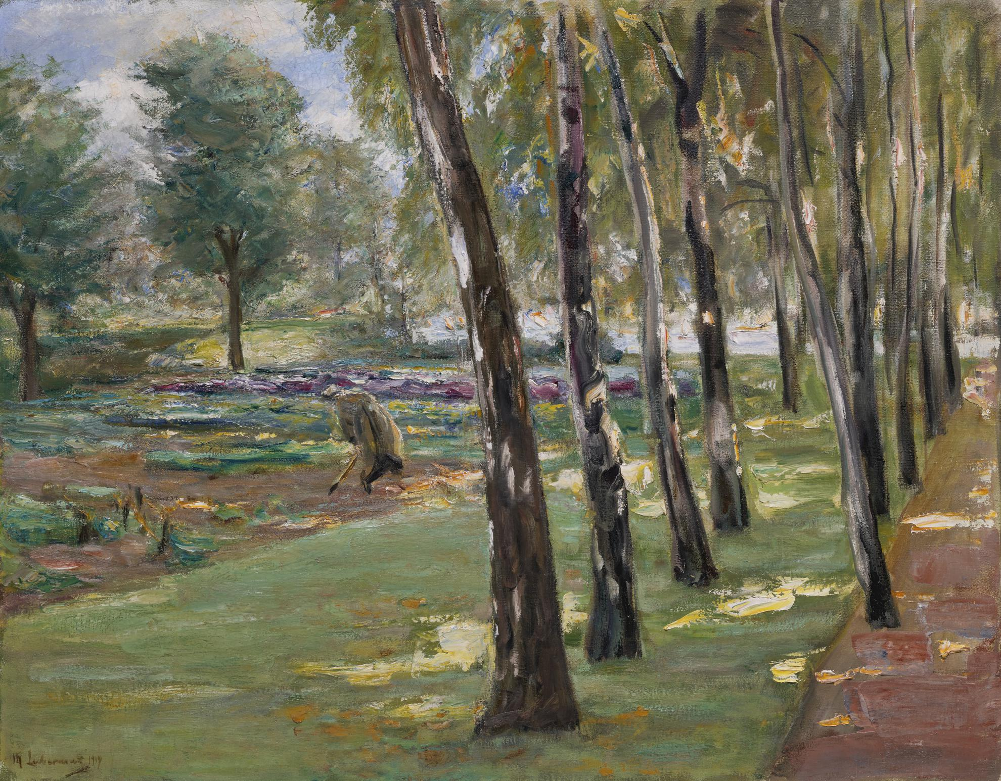 Max Liebermann-Die Birkenallee Im Wannseegarten, Blick Auf Das Kohlfeld (An Avenue Of Birch Trees In The Wannsee Garden, A View Of A Cabbage Field)-1919