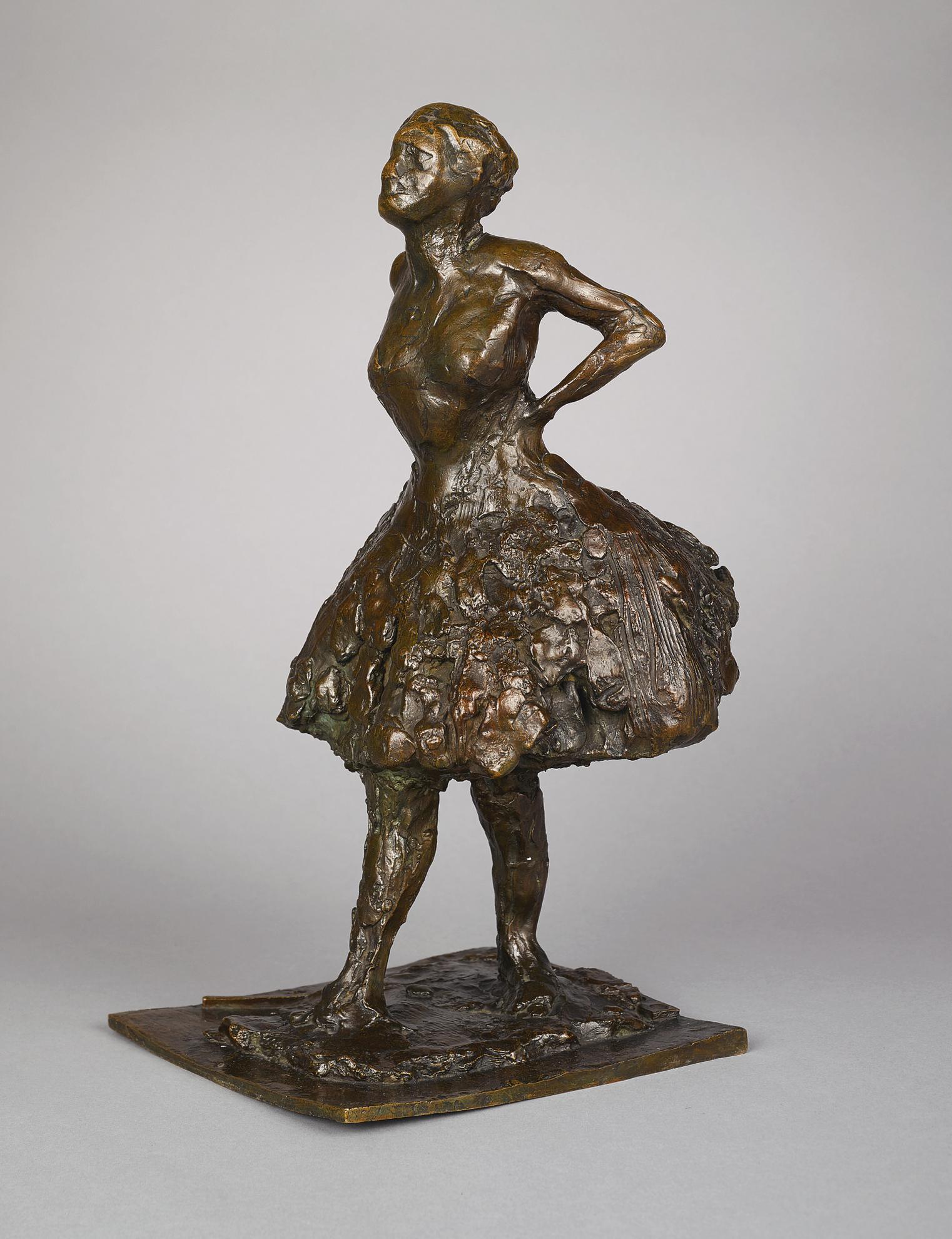 Edgar Degas-Danseuse Habillee Au Repos, Les Mains Sur Les Reins, La Jambe Droite En Avant-1926