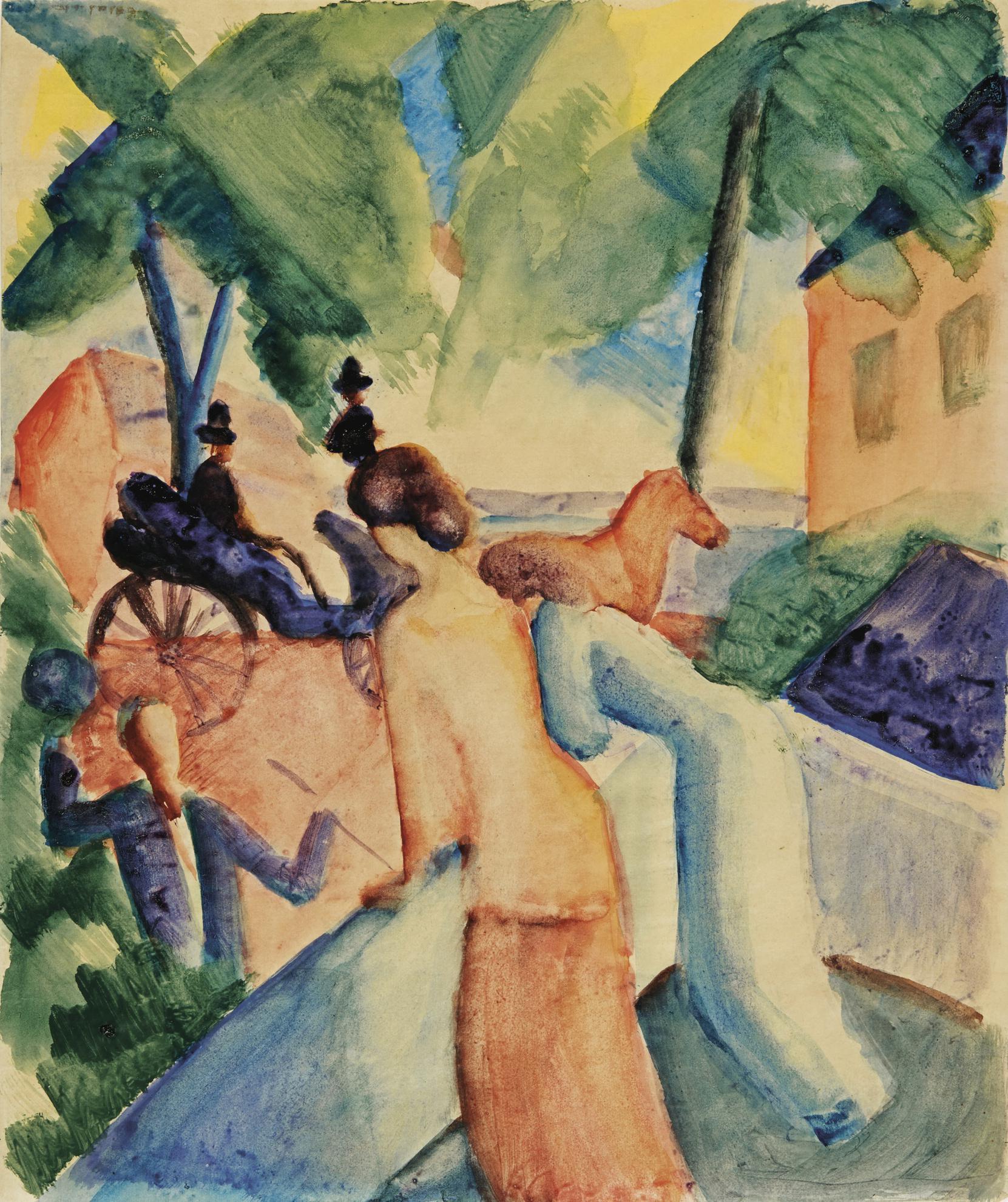 August Macke-Begrussung (Greeting)-1913