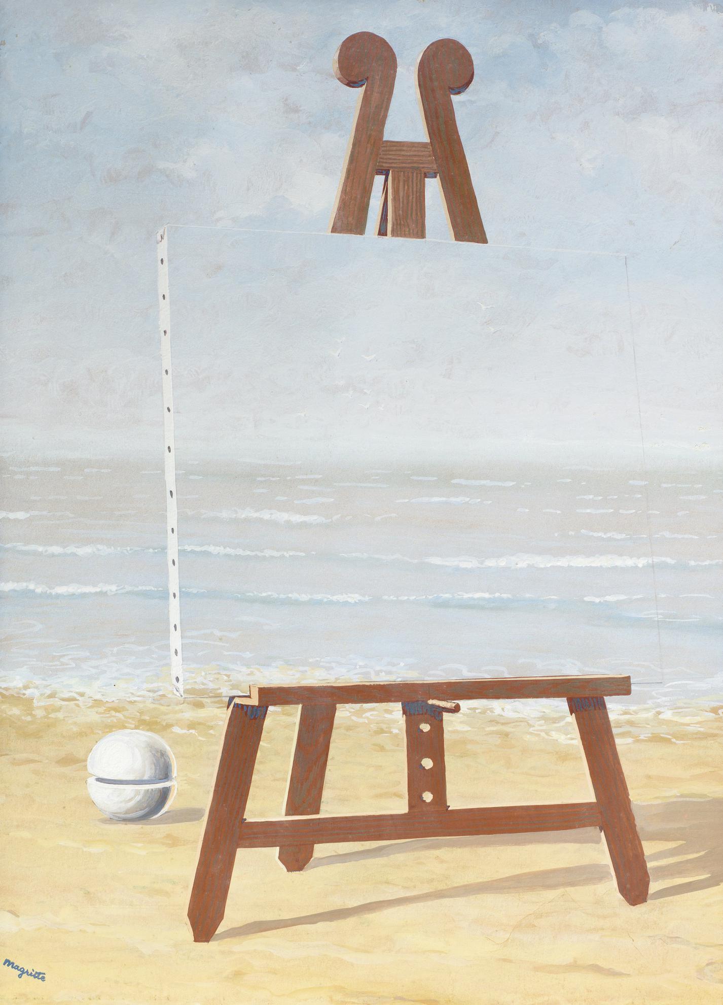 Rene Magritte-La Belle Captive-1946