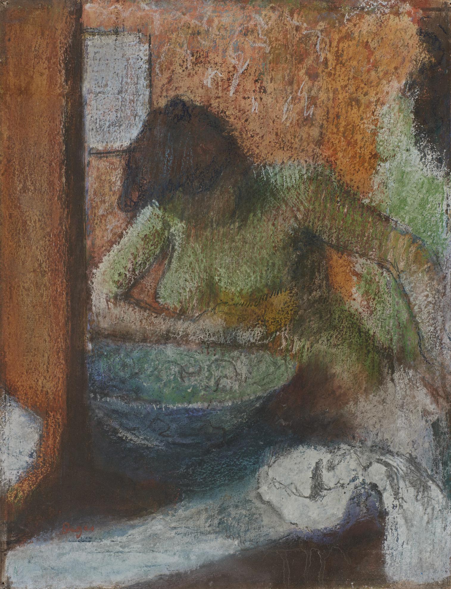 Edgar Degas-Femme A Sa Toilette-1897