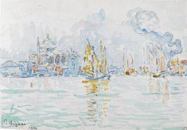 Paul Signac-Venise, La Lagune-1904