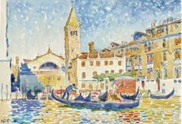 Henri-Edmond Cross-Venise, Leglise San Moise-1903