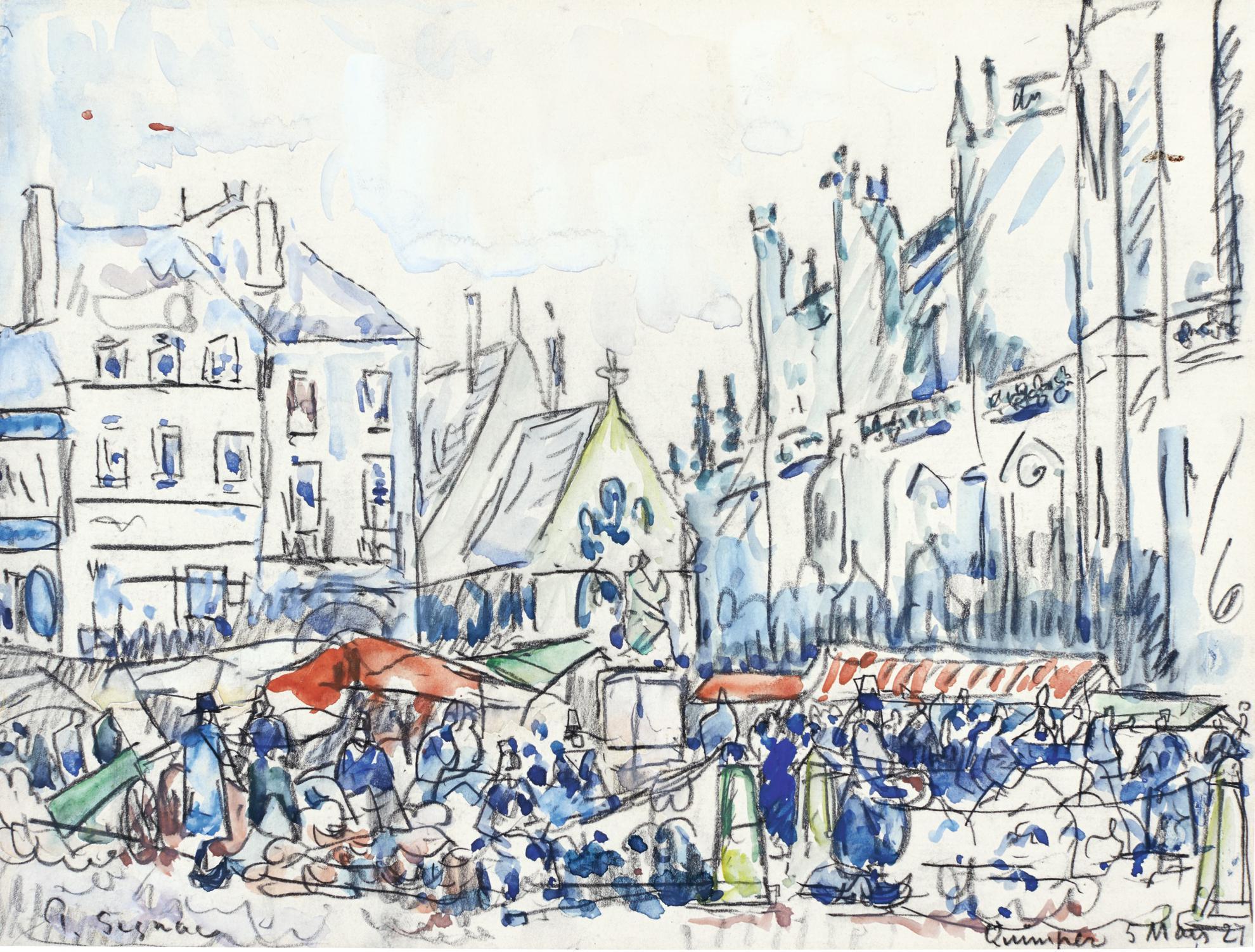 Paul Signac-Quimper, Le Marche-1927