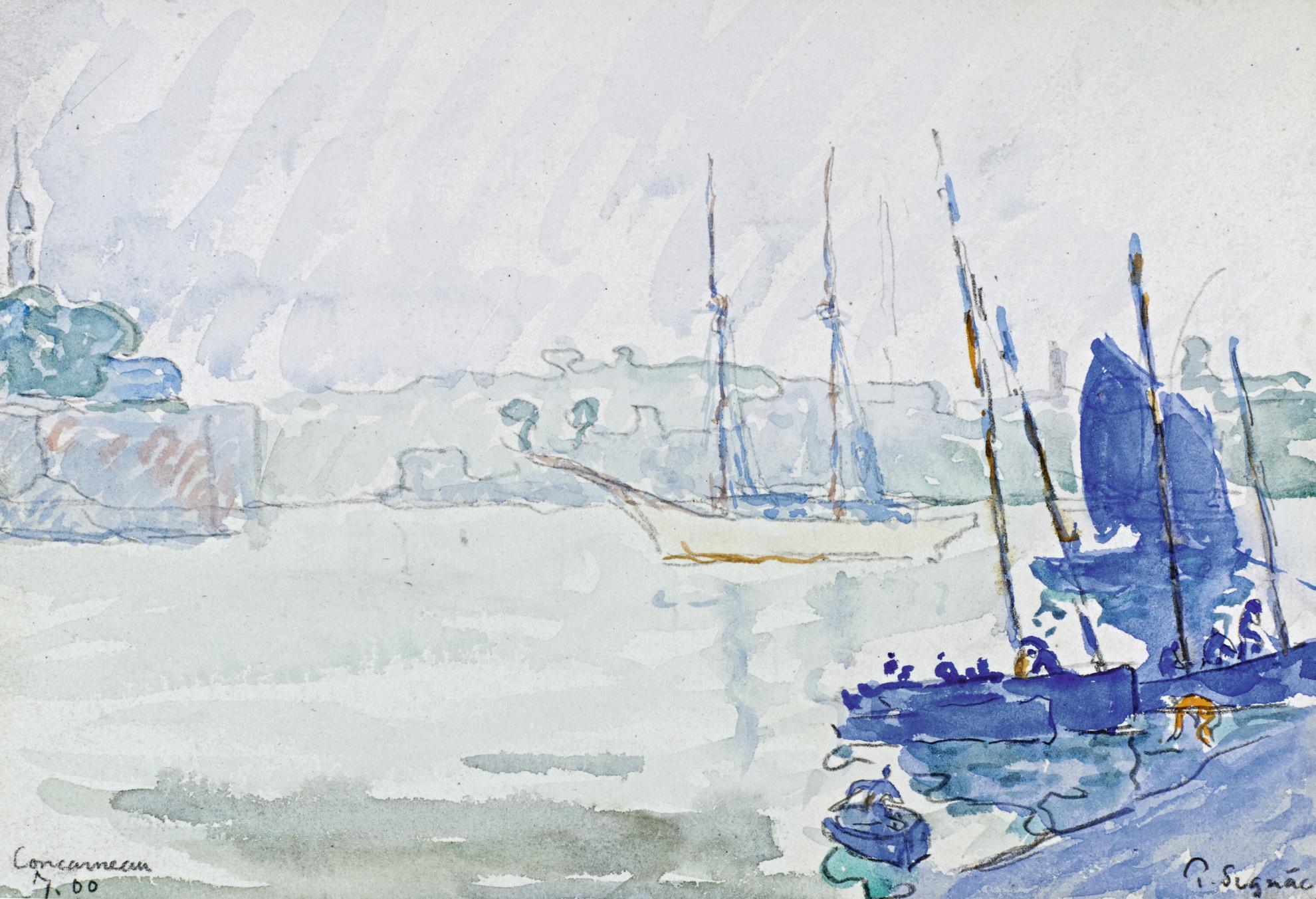 Paul Signac-Concarneau-1900