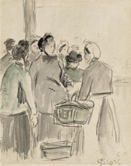 Camille Pissarro-Marche A La Volaille, Gisors-1889