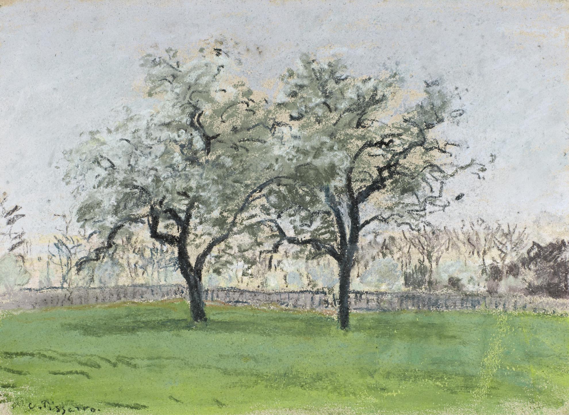 Camille Pissarro-Les Pommiers, Pontoise-1872