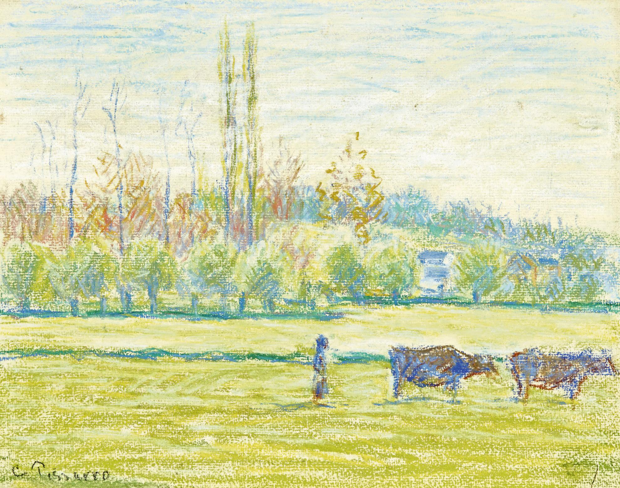 Camille Pissarro-Les Pres A Eragny-1887