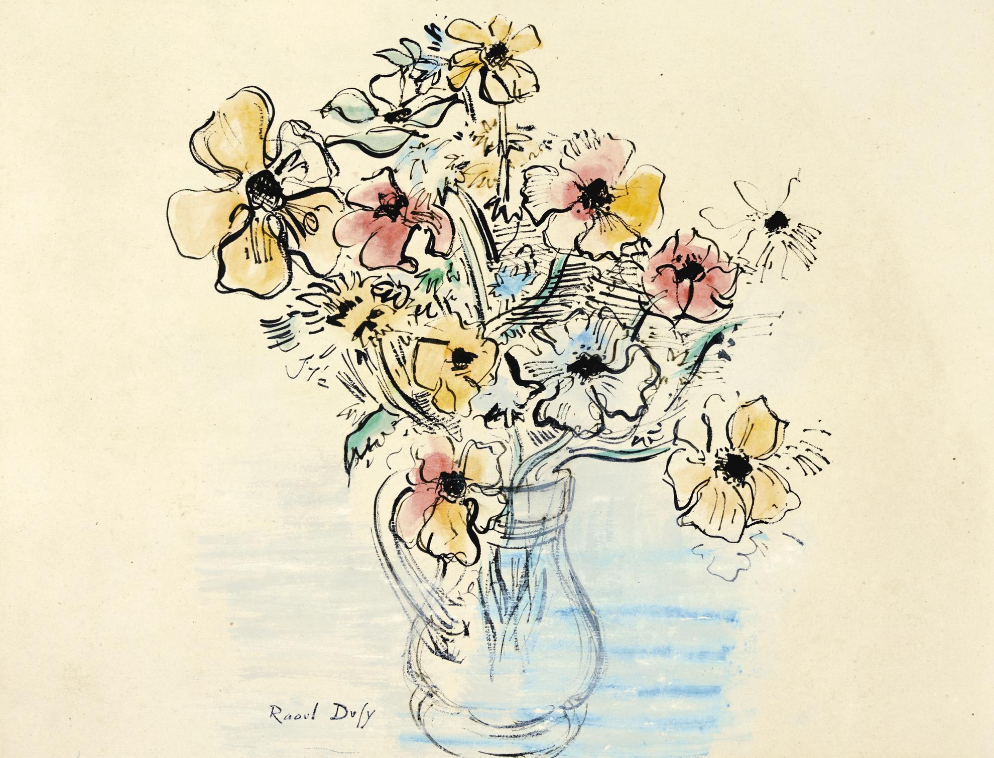 Raoul Dufy-Bouquet Danemones-1946
