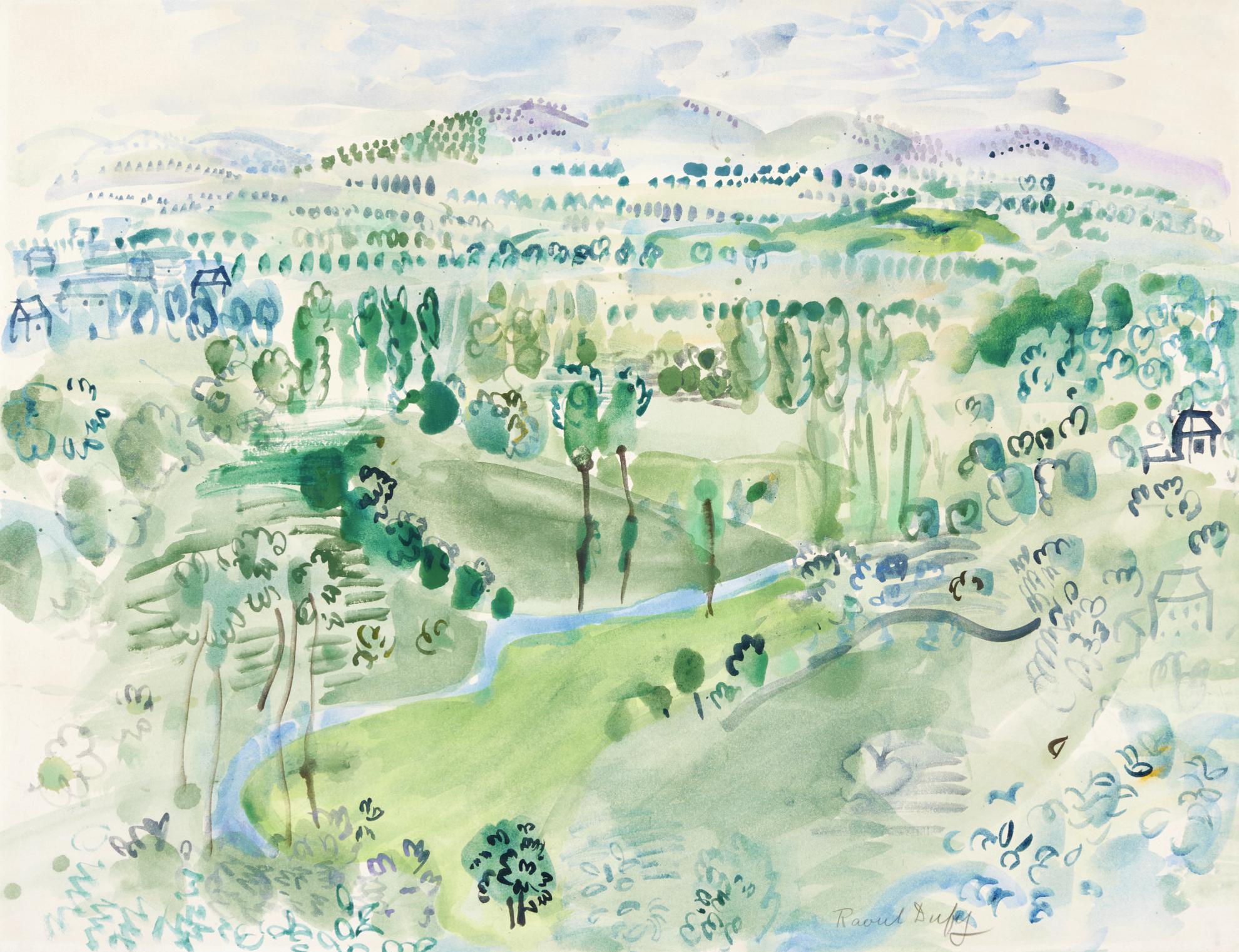 Raoul Dufy-Paysage Dauvergne-