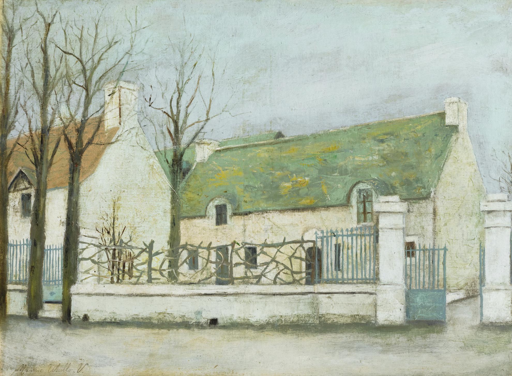 Maurice Utrillo-La Ferme Au Toit Vert-1913