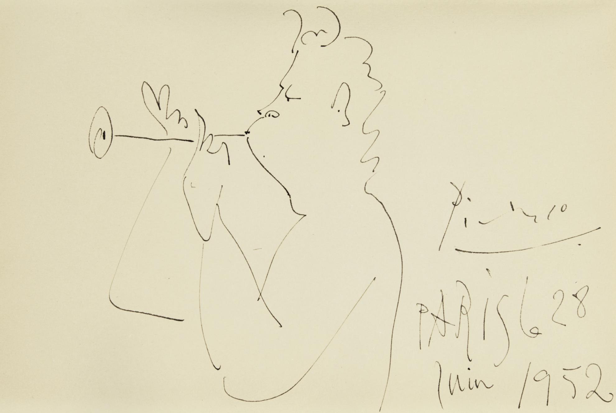 Pablo Picasso-Faune Musicien-1952