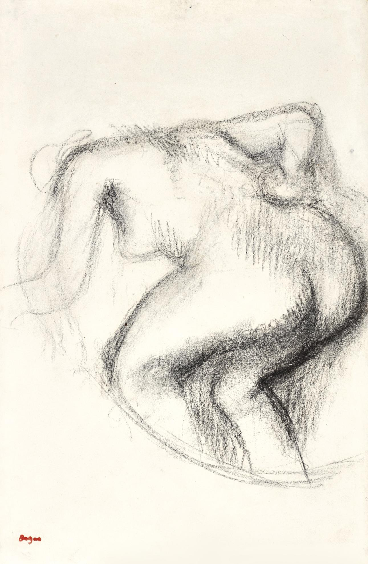 Edgar Degas-Femme Nue Sessuyant-