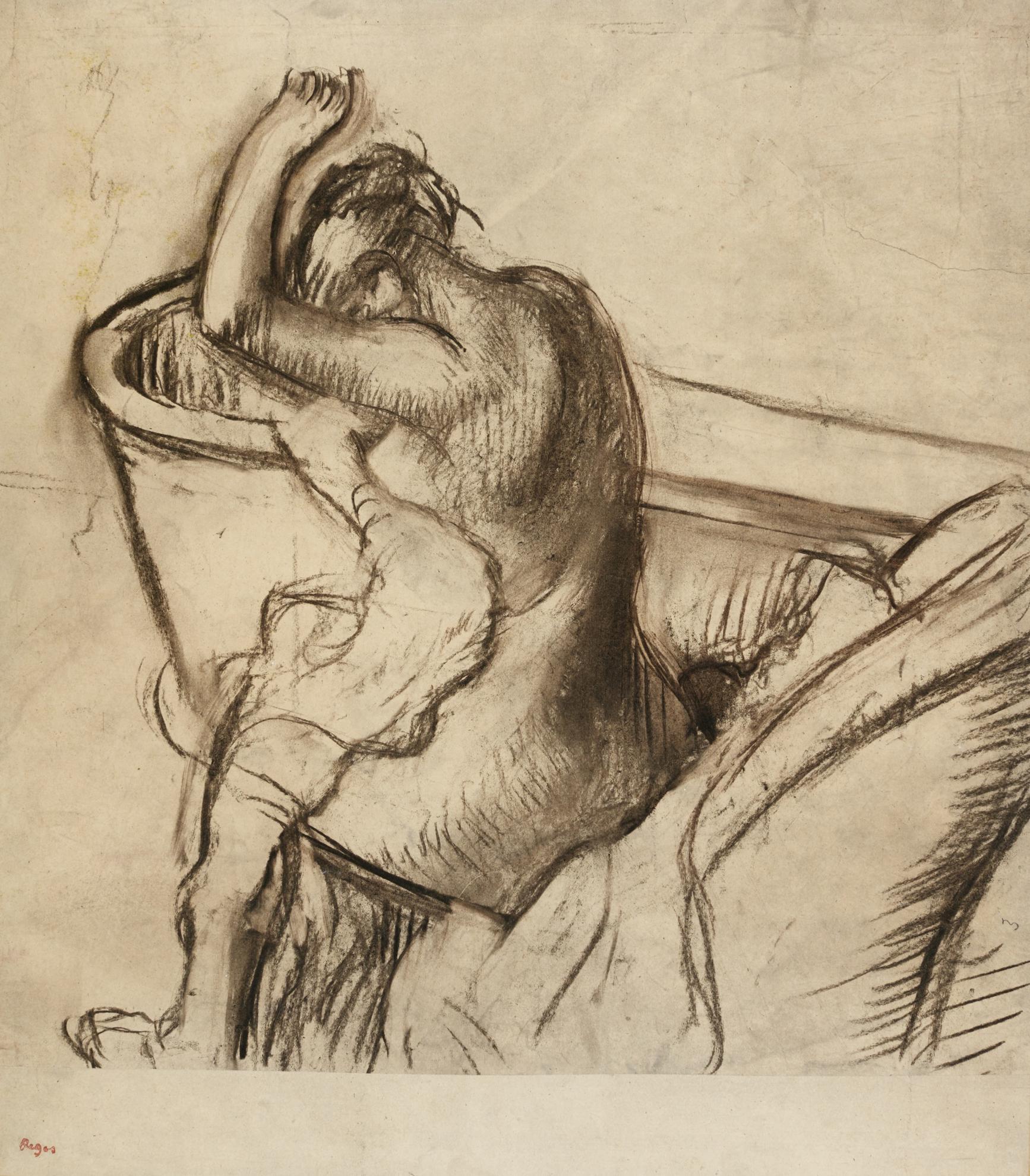 Edgar Degas-Apres Le Bain, Femme Sessuyant-