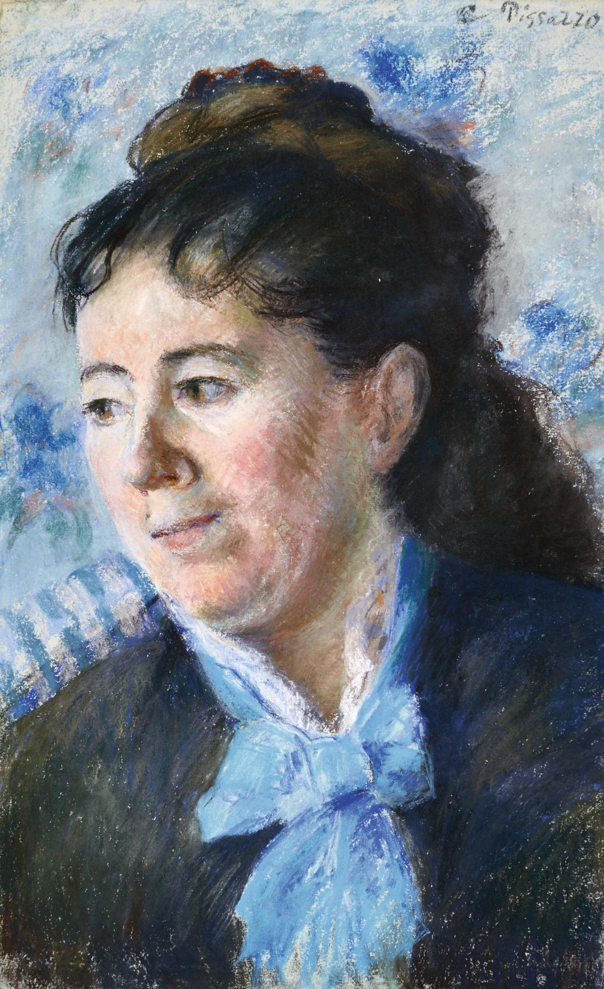 Camille Pissarro-Portrait De Felicie Vellay Estruc-1874