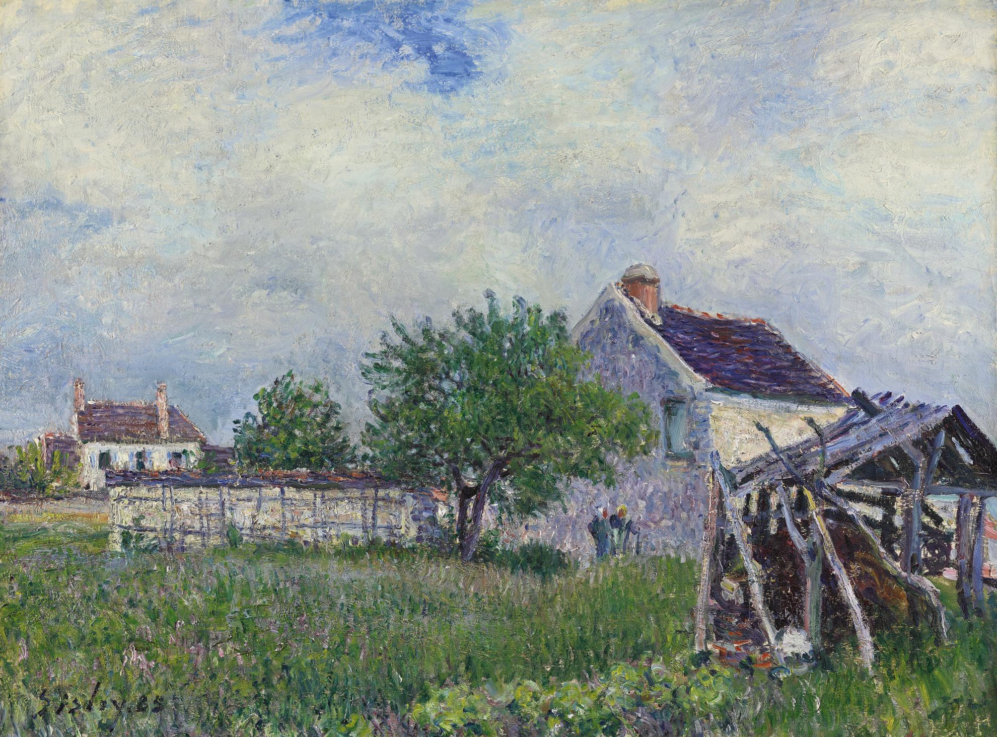 Alfred Sisley-Vieille Chaumiere Aux Sablons-1885