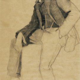 Egon Schiele-Ohne Titel (Untitled)-1908