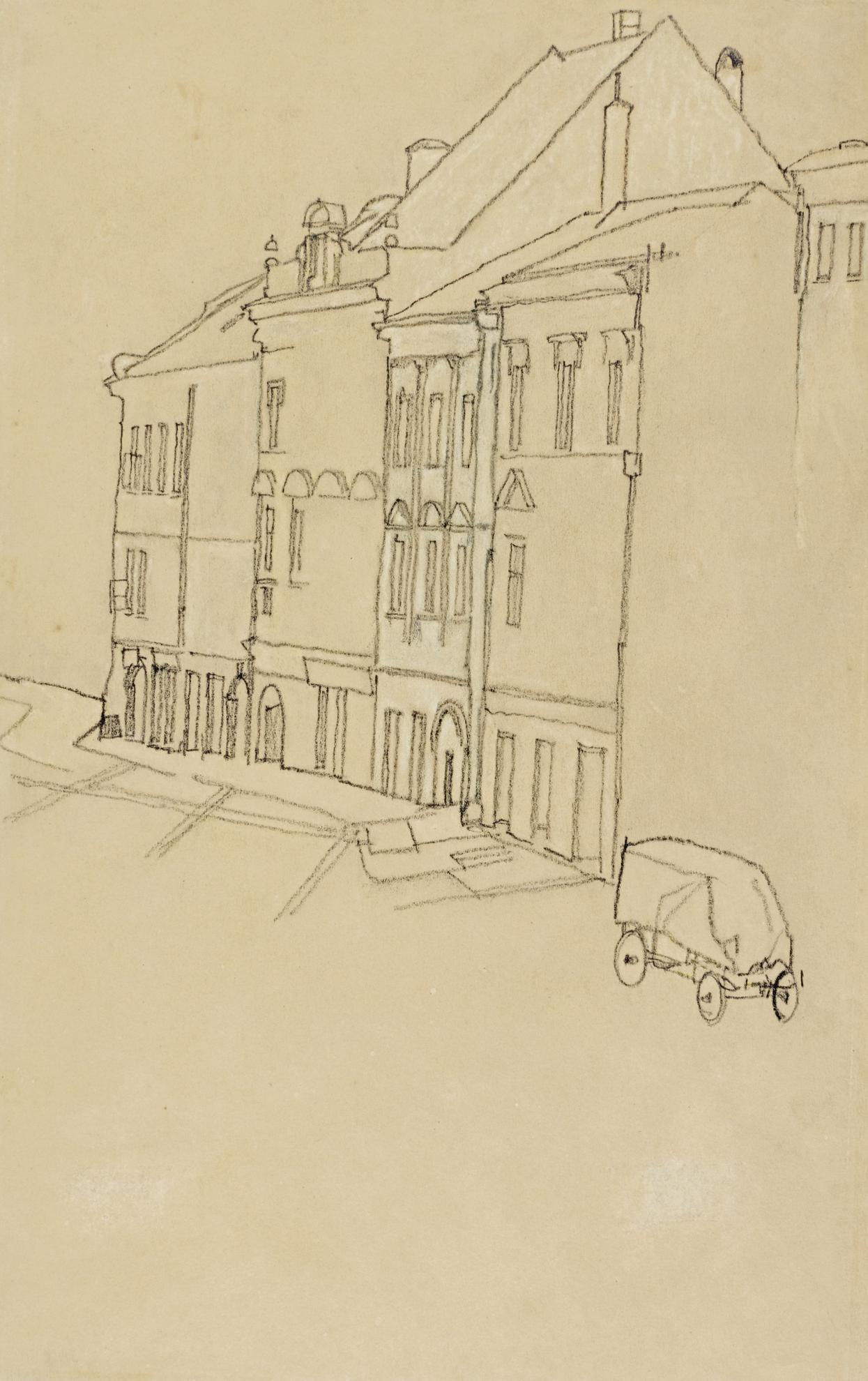 Egon Schiele-Hauser In Krumau (Houses In Krumau)-1918