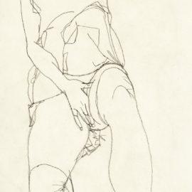 Egon Schiele-Liegende (Reclining Woman)-1913