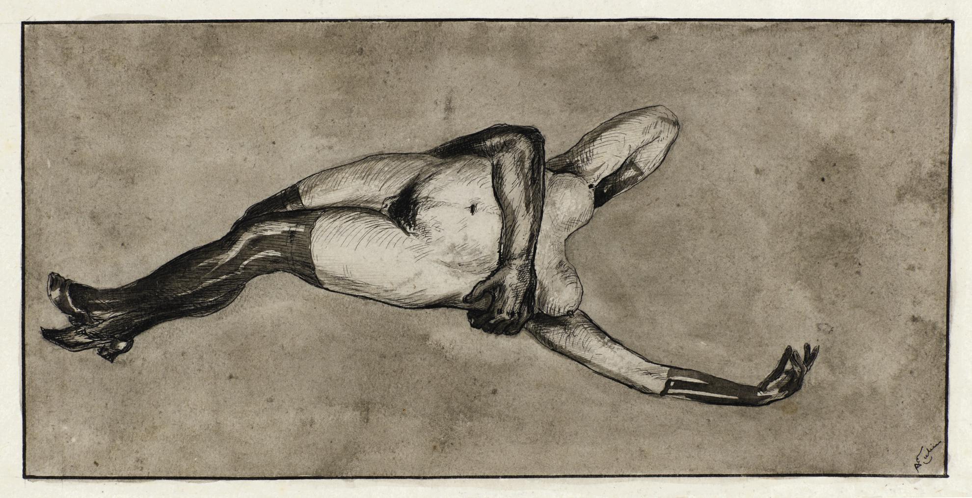 Alfred Kubin-Mannlicher Arm Mit Weiblichem Akt (Male Arm With Female Nude)-1898