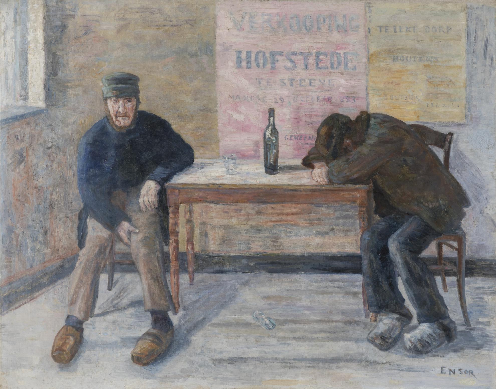 James Ensor-Les Pochards (The Drunkards)-1910