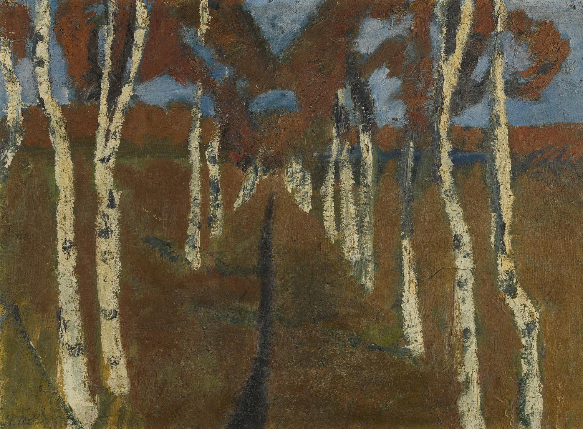 Paula Modersohn-Becker-Birkenweg (Path With Birch Trees)-1899