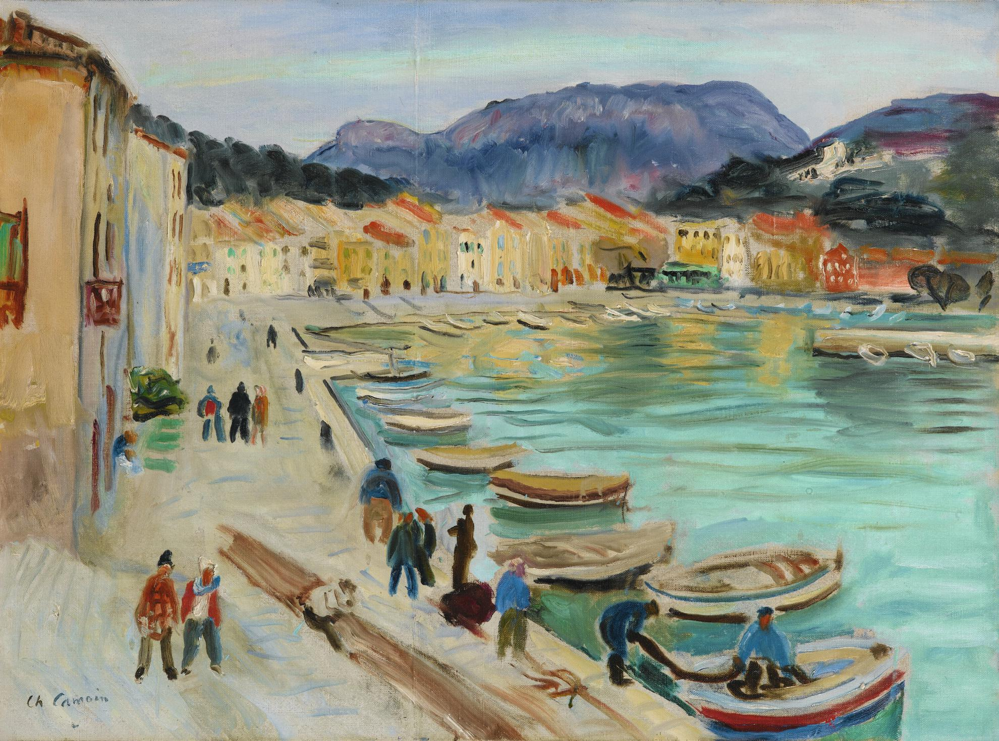 Charles Camoin-Port De Cassis-1949